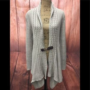 🆕 one A  knitted braided sweater cardigan xl